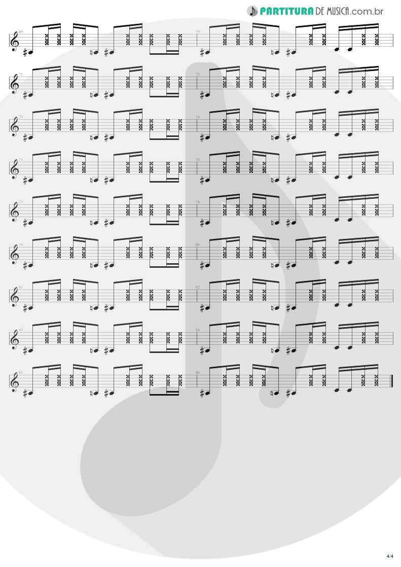 Partitura de musica de Guitarra Elétrica - American Woman | Lenny Kravitz | 5 1998 - pag 4