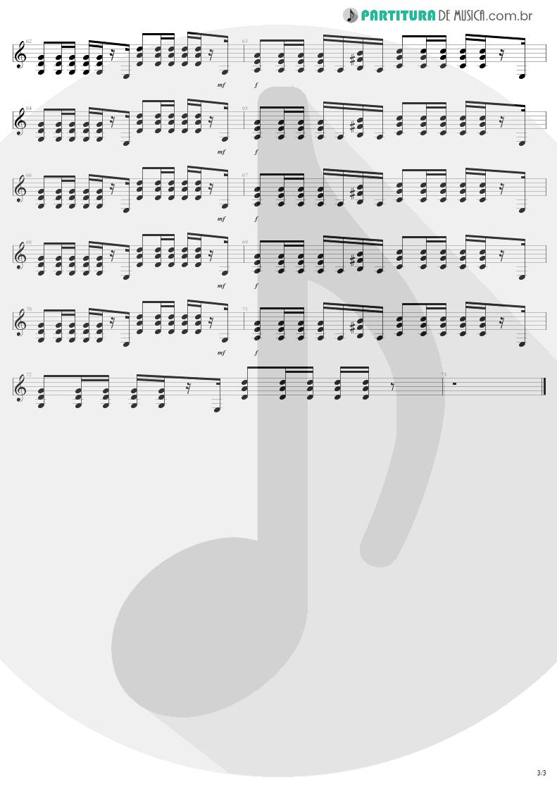 Partitura de musica de Guitarra Elétrica - Fly Away | Lenny Kravitz | 5 1998 - pag 3