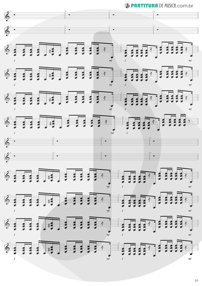 Partitura de musica de Guitarra Elétrica - Fly Away | Lenny Kravitz | 5 1998 - pag 2
