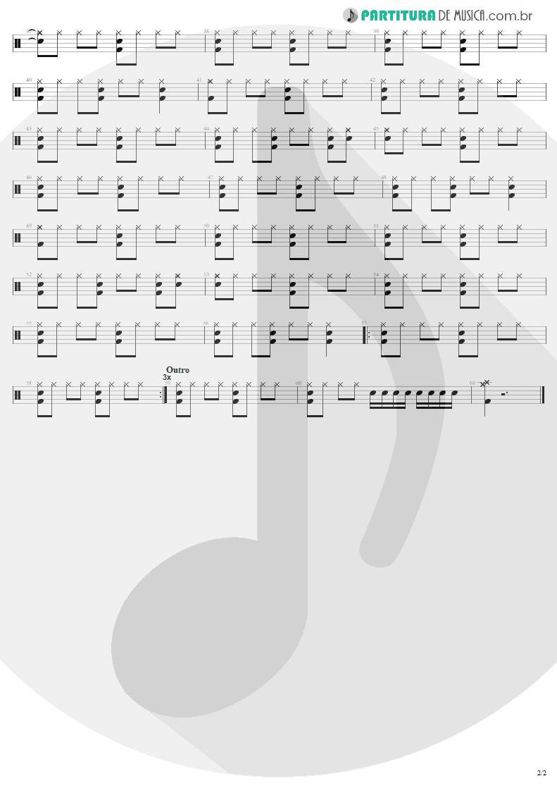 Partitura de musica de Bateria - California | Lenny Kravitz | Baptism 2004 - pag 2