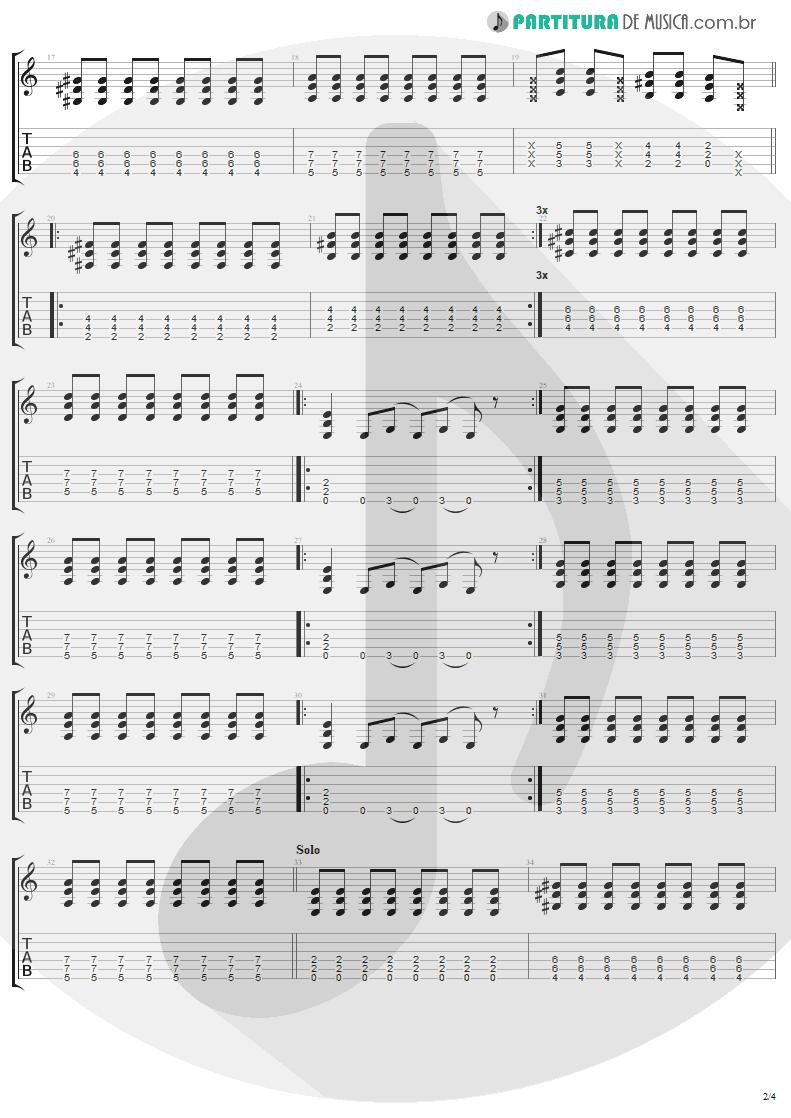 Tablatura + Partitura de musica de Guitarra Elétrica - California | Lenny Kravitz | Baptism 2004 - pag 2