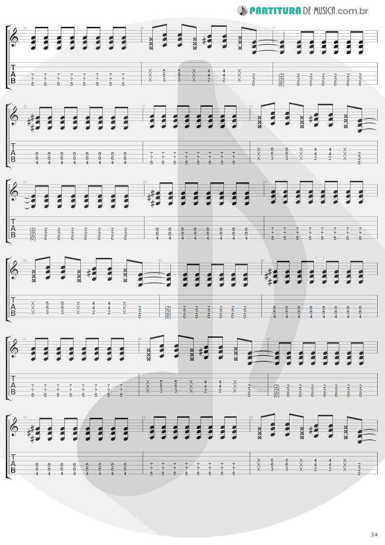 Tablatura + Partitura de musica de Guitarra Elétrica - California | Lenny Kravitz | Baptism 2004 - pag 3