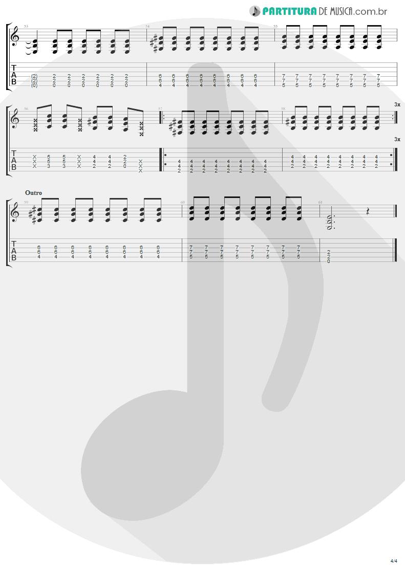 Tablatura + Partitura de musica de Guitarra Elétrica - California | Lenny Kravitz | Baptism 2004 - pag 4