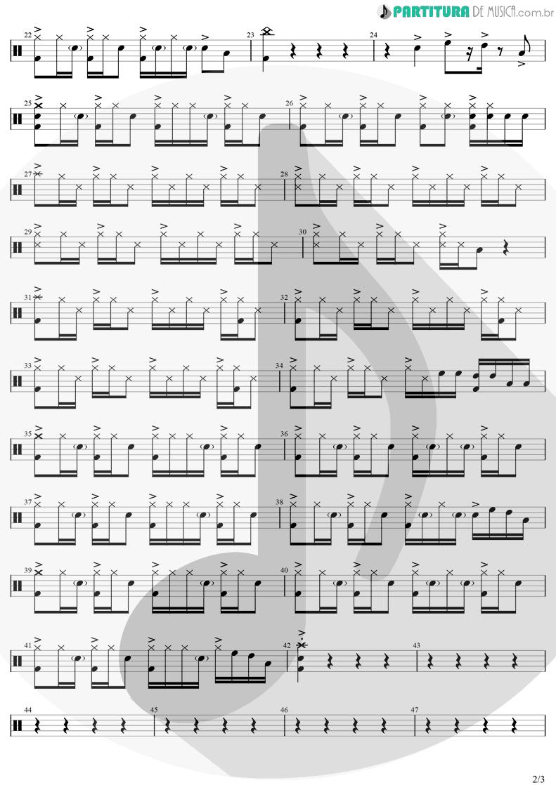 Partitura de musica de Bateria - Morena | Luan Santana | Morena 2021 - pag 2