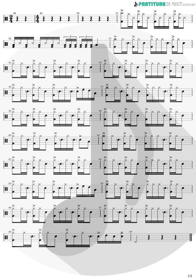 Partitura de musica de Bateria - Morena | Luan Santana | Morena 2021 - pag 3