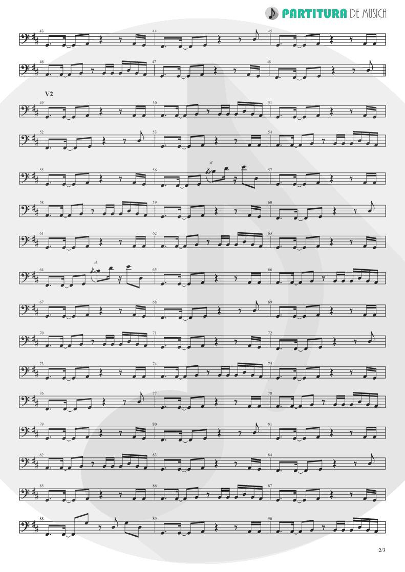 Partitura de musica de Baixo Elétrico - Holiday | Madonna | Madonna 1983 - pag 2