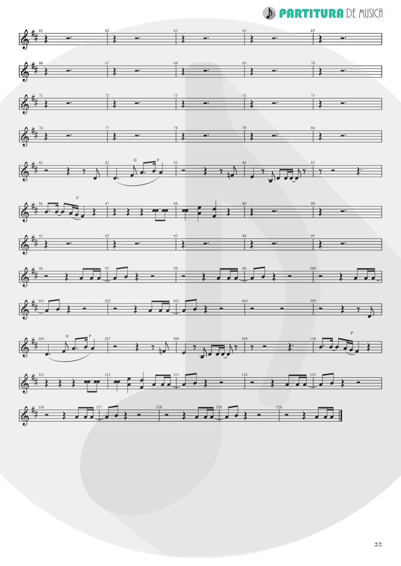 Partitura de musica de Canto - Holiday | Madonna | Madonna 1983 - pag 2