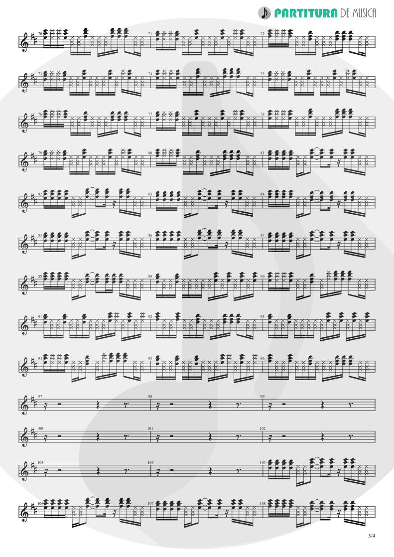 Partitura de musica de Guitarra Elétrica - Holiday | Madonna | Madonna 1983 - pag 3