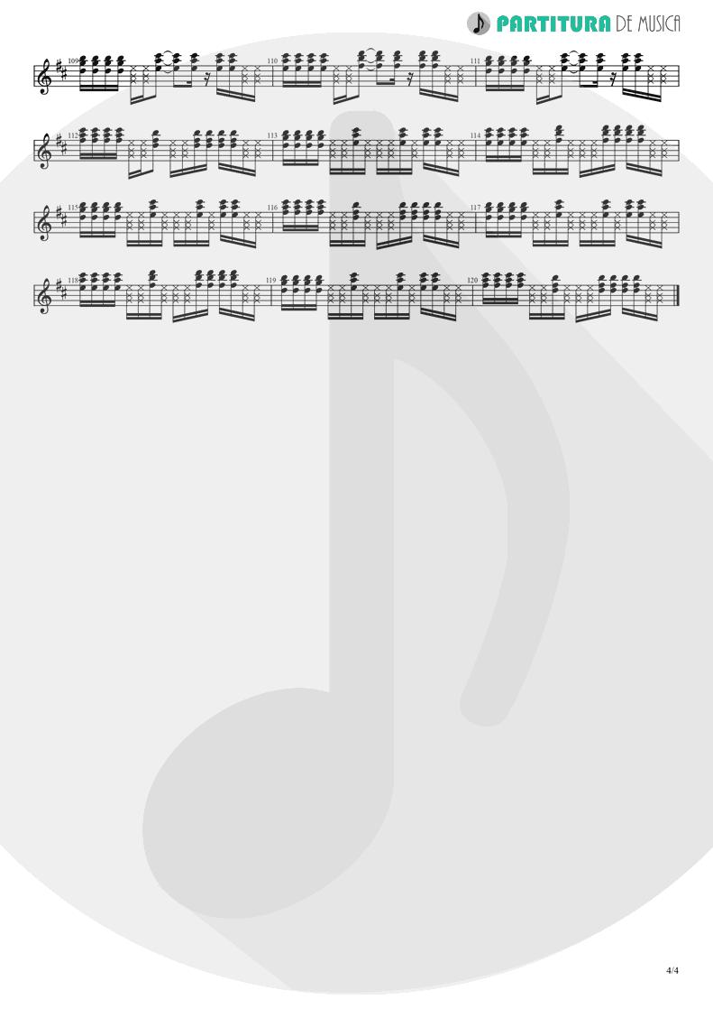 Partitura de musica de Guitarra Elétrica - Holiday | Madonna | Madonna 1983 - pag 4