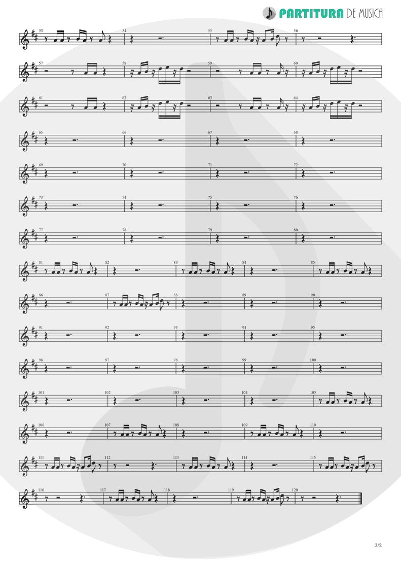 Partitura de musica de Guitarra Elétrica - Holiday | Madonna | Madonna 1983 - pag 2