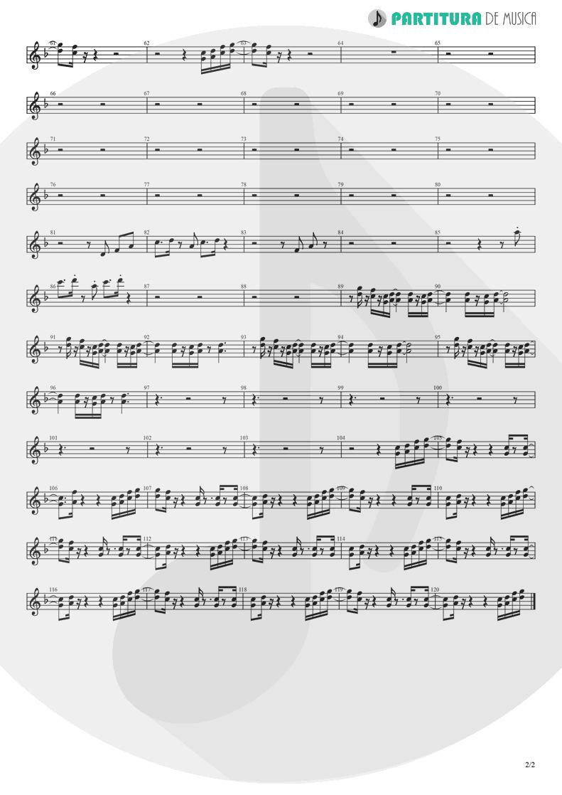 Partitura de musica de Trompete - Holiday | Madonna | Madonna 1983 - pag 2