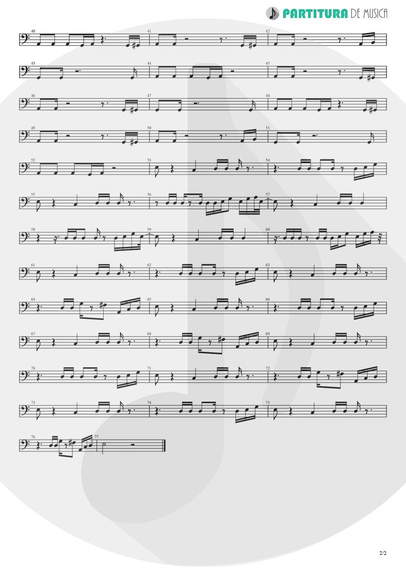 Partitura de musica de Baixo Elétrico - Lucky Star | Madonna | Madonna 1983 - pag 2