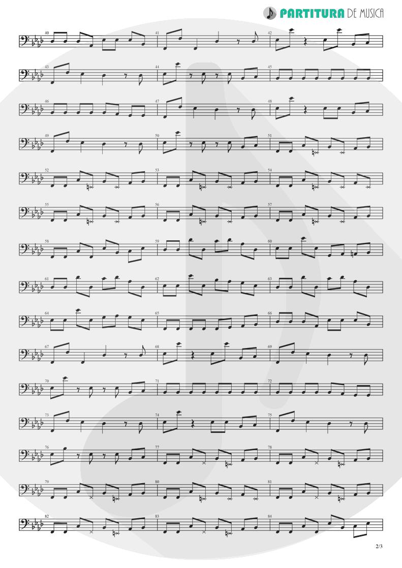 Partitura de musica de Baixo Elétrico - Papa Don't Preach | Madonna | True Blue 1986 - pag 2