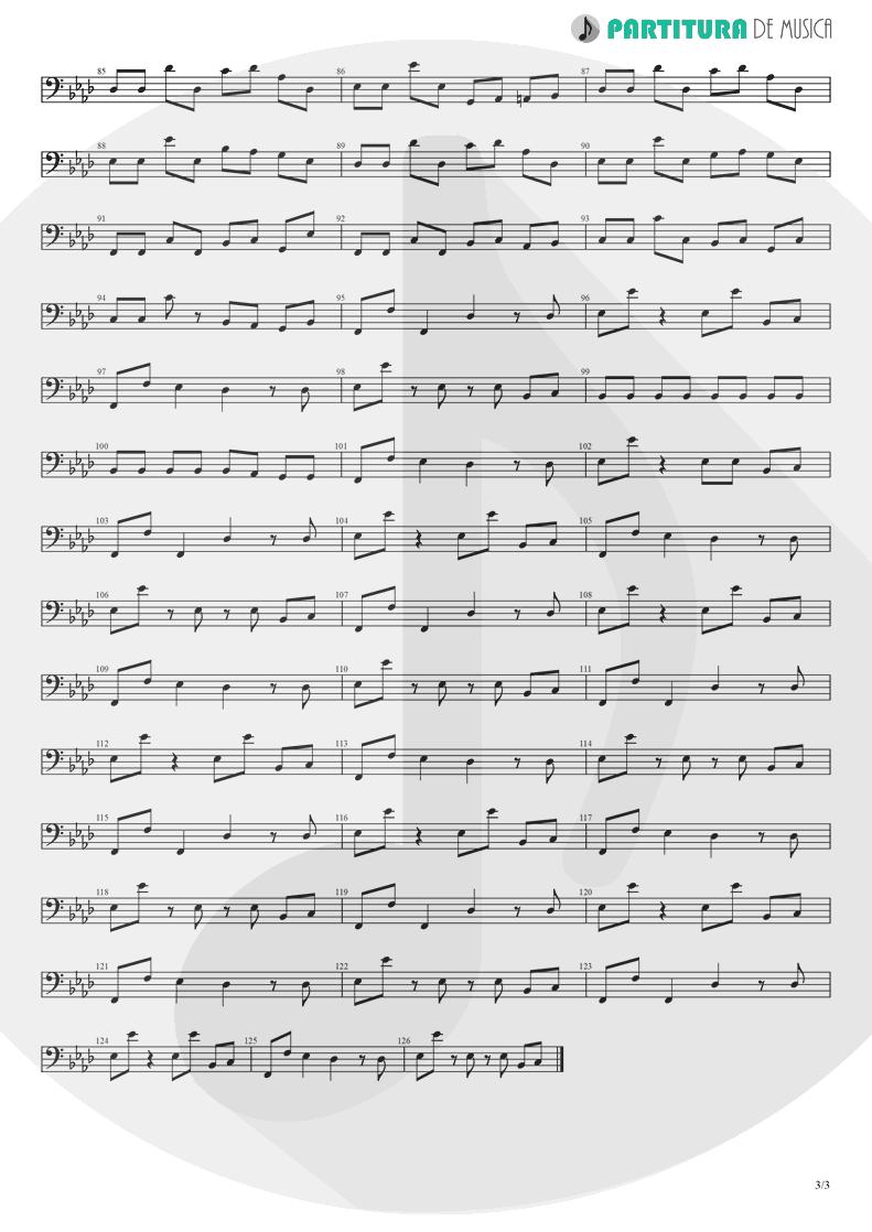 Partitura de musica de Baixo Elétrico - Papa Don't Preach | Madonna | True Blue 1986 - pag 3