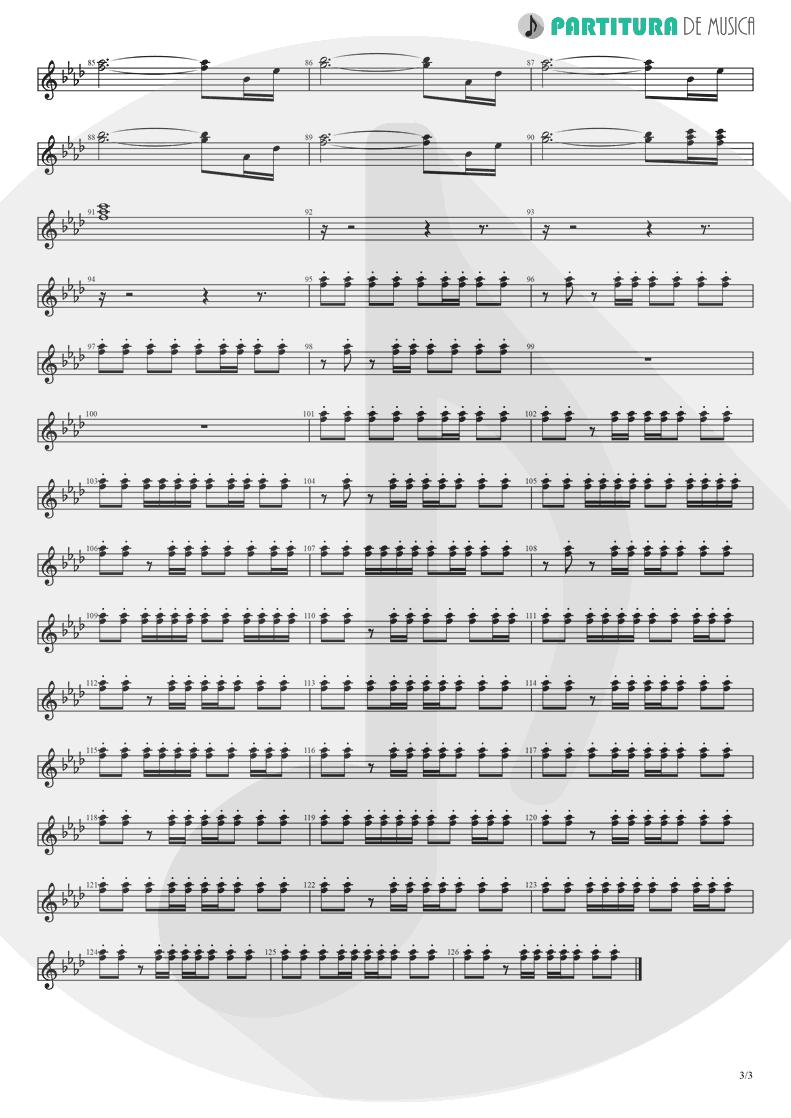 Partitura de musica de Guitarra Elétrica - Papa Don't Preach | Madonna | True Blue 1986 - pag 3
