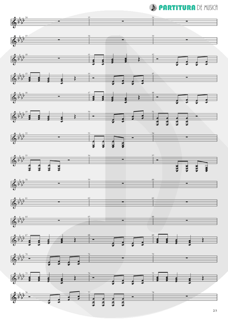Partitura de musica de Violino - Papa Don't Preach | Madonna | True Blue 1986 - pag 2