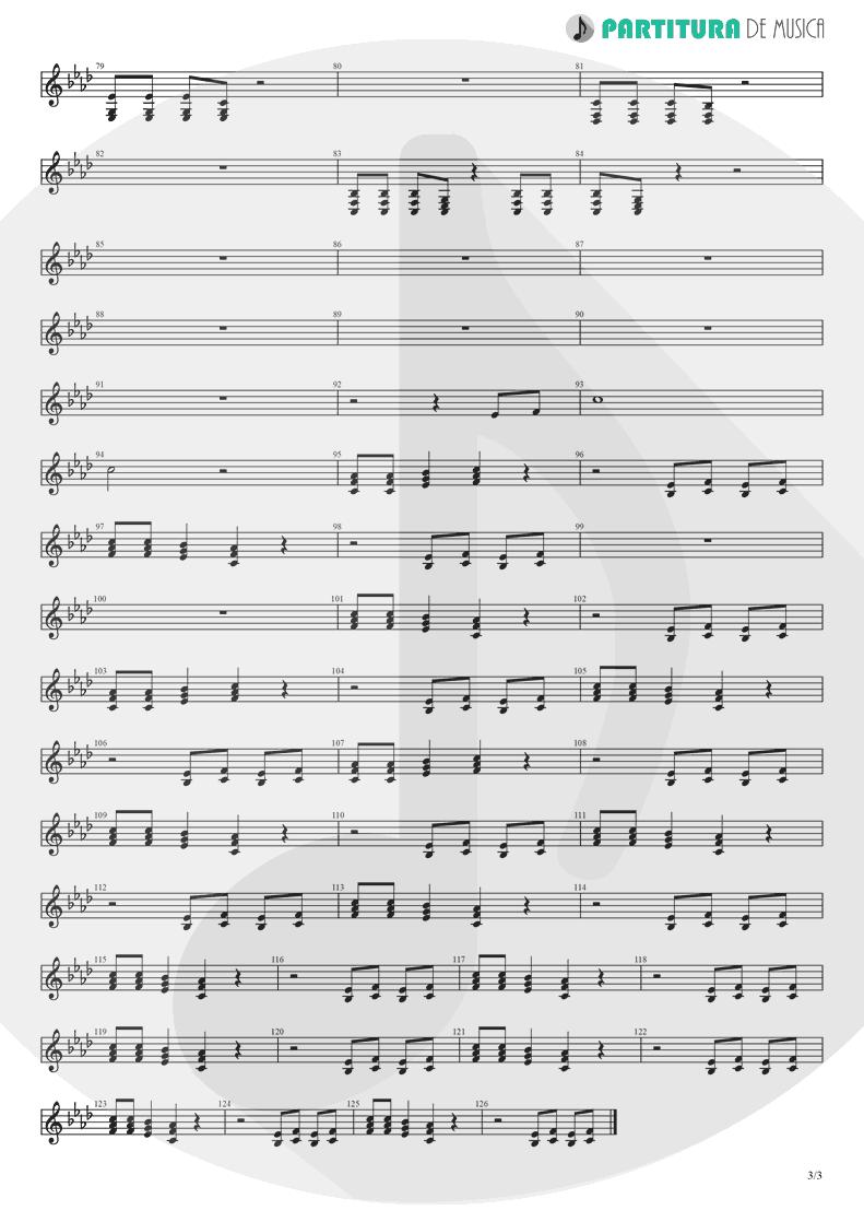 Partitura de musica de Violino - Papa Don't Preach | Madonna | True Blue 1986 - pag 3