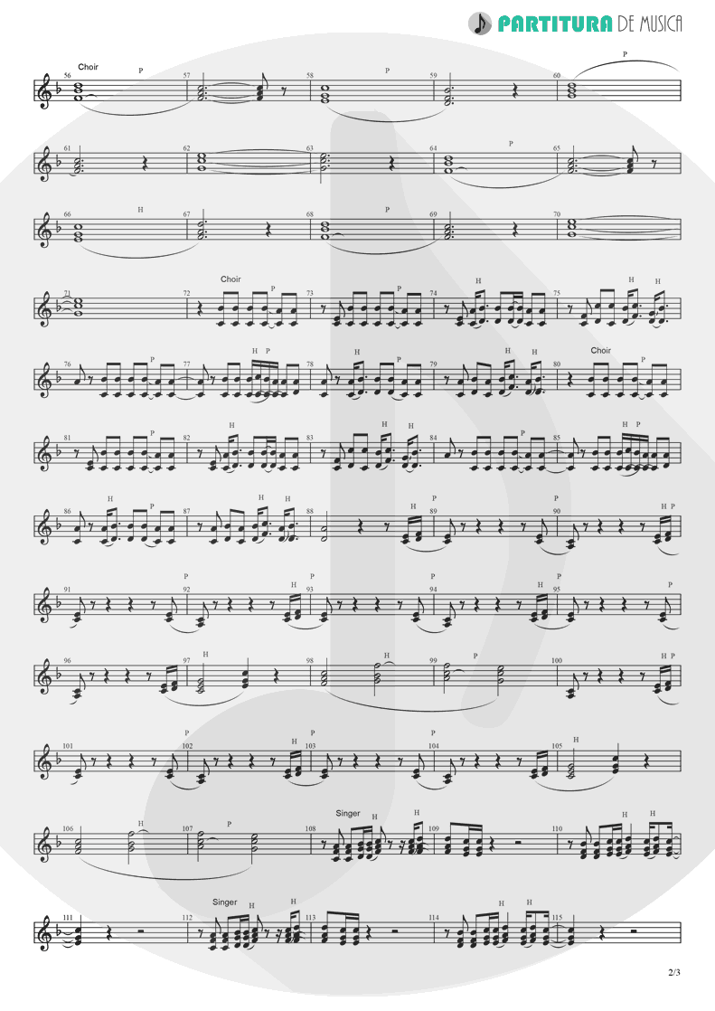 Partitura de musica de Canto - Like A Prayer | Madonna | Like a Prayer 1989 - pag 2