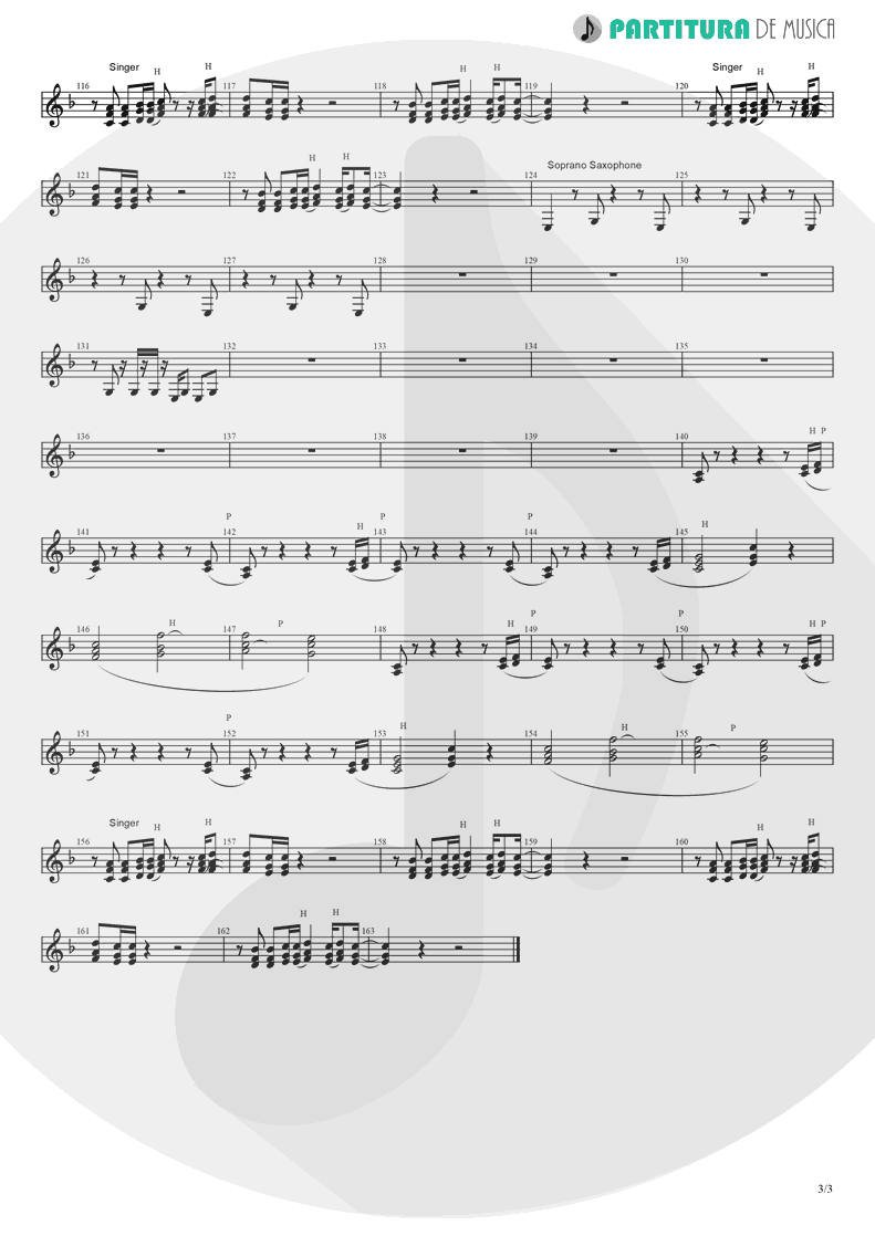 Partitura de musica de Canto - Like A Prayer | Madonna | Like a Prayer 1989 - pag 3
