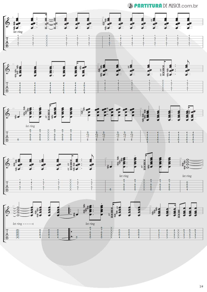 Tablatura + Partitura de musica de Guitarra Elétrica - Secret   Madonna   Bedtime Stories 1994 - pag 2