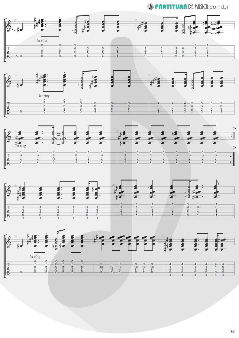 Tablatura + Partitura de musica de Guitarra Elétrica - Secret   Madonna   Bedtime Stories 1994 - pag 3