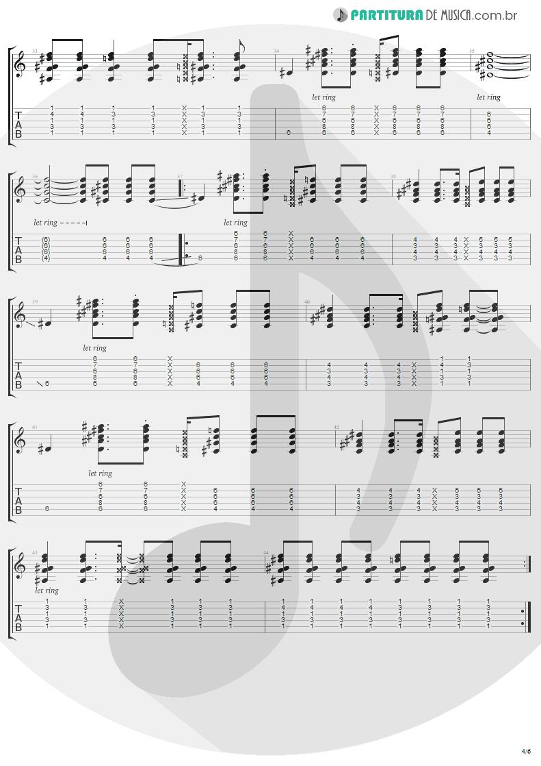 Tablatura + Partitura de musica de Guitarra Elétrica - Secret   Madonna   Bedtime Stories 1994 - pag 4