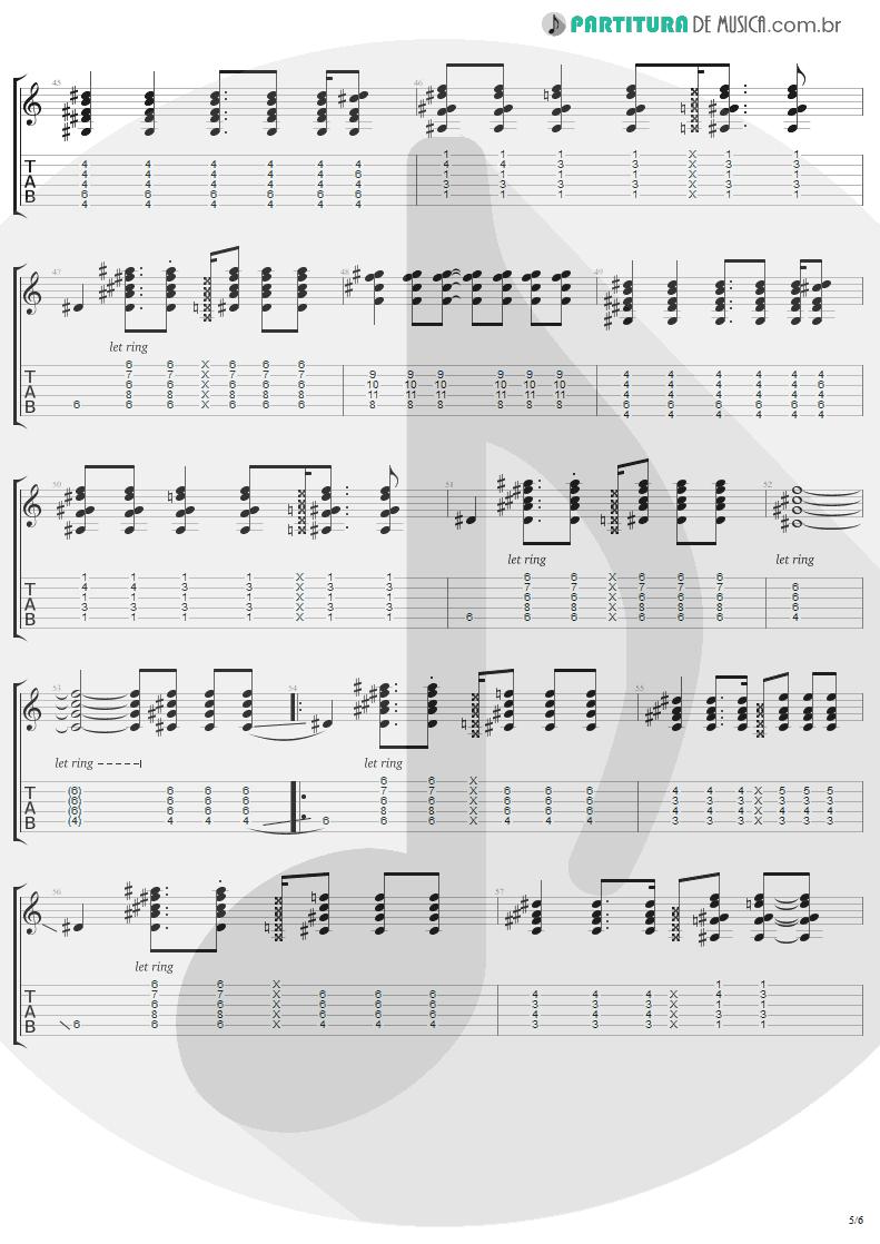 Tablatura + Partitura de musica de Guitarra Elétrica - Secret   Madonna   Bedtime Stories 1994 - pag 5
