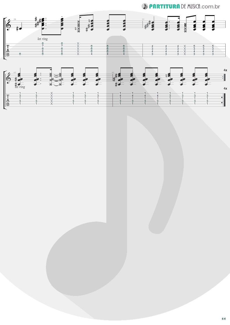 Tablatura + Partitura de musica de Guitarra Elétrica - Secret   Madonna   Bedtime Stories 1994 - pag 6
