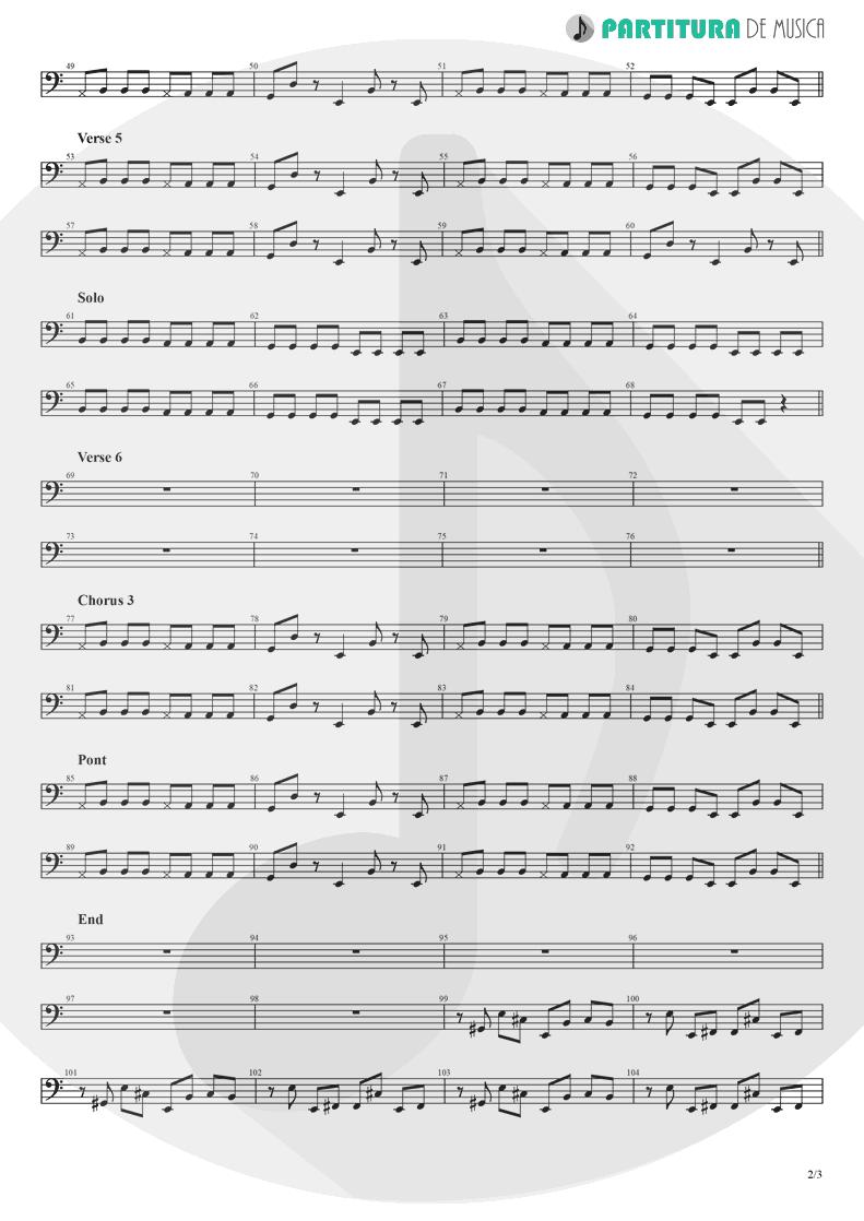Partitura de musica de Baixo Elétrico - Hollywood | Madonna | American Life 2003 - pag 2