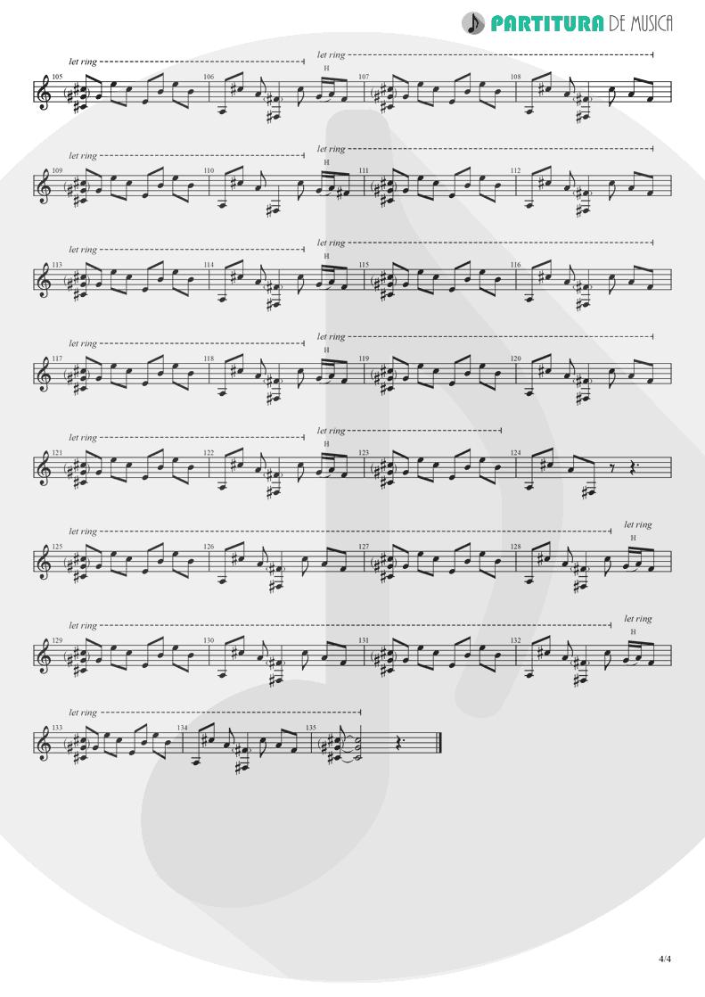 Partitura de musica de Guitarra Elétrica - Hollywood | Madonna | American Life 2003 - pag 4