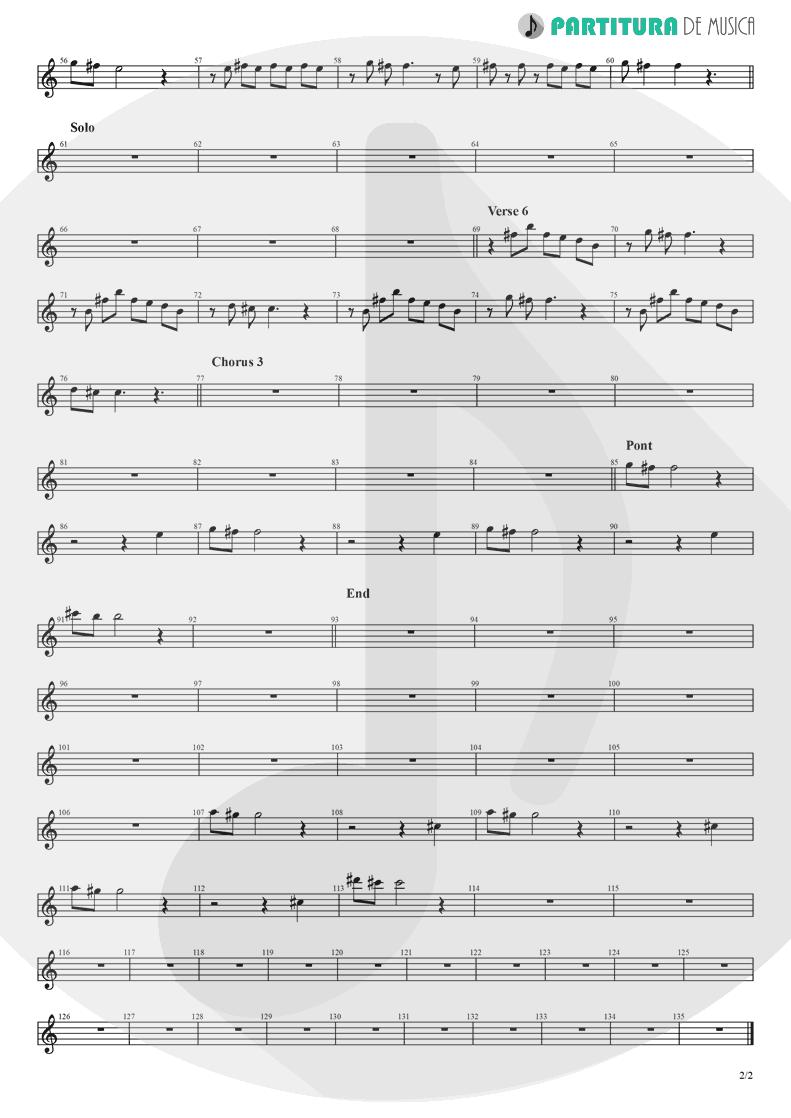 Partitura de musica de Teclado - Hollywood | Madonna | American Life 2003 - pag 2