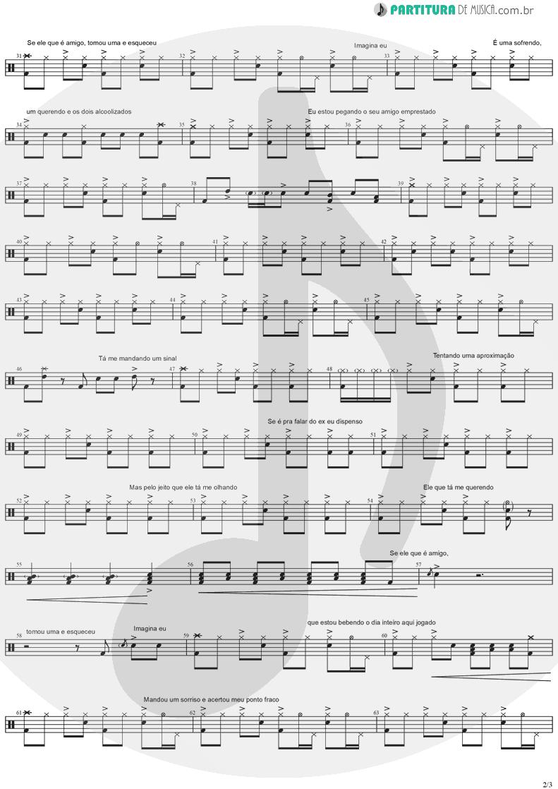 Partitura de musica de Bateria - Amigo Emprestado | Marília Mendonça | Todos os Cantos 2019 - pag 2