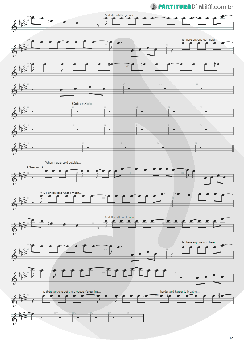 Partitura de musica de Canto - Harder To Breathe | Maroon 5 | Songs About Jane 2002 - pag 2