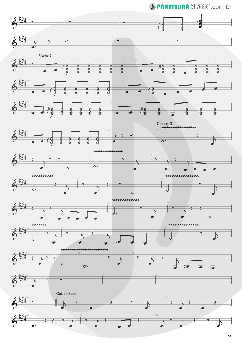 Partitura de musica de Guitarra Elétrica - Harder To Breathe   Maroon 5   Songs About Jane 2002 - pag 2