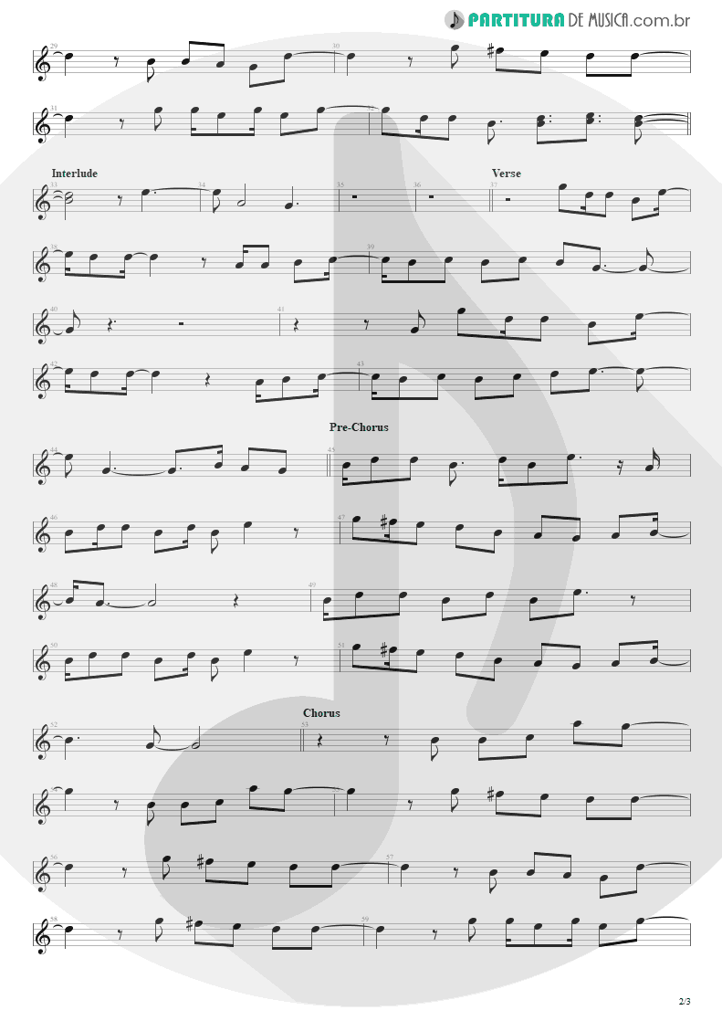 Partitura de musica de Canto - Must Get Out | Maroon 5 | Songs About Jane 2002 - pag 2