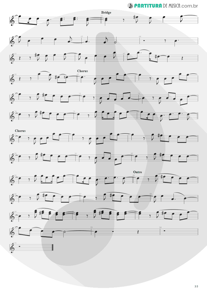 Partitura de musica de Canto - Must Get Out | Maroon 5 | Songs About Jane 2002 - pag 3