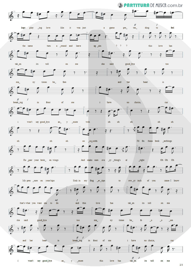 Partitura de musica de Canto - This Love   Maroon 5   Songs About Jane 2002 - pag 2
