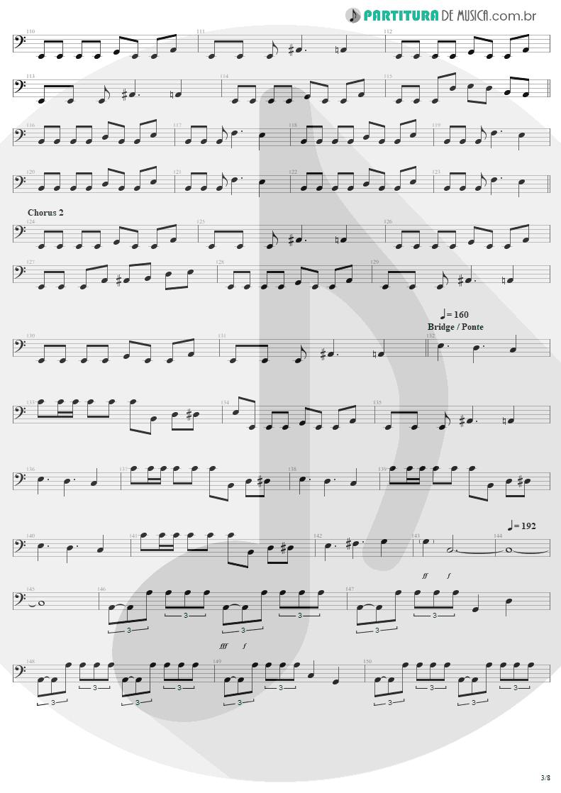 Partitura de musica de Baixo Elétrico - Am I Evil? | Metallica | Kill 'Em All 1983 - pag 3