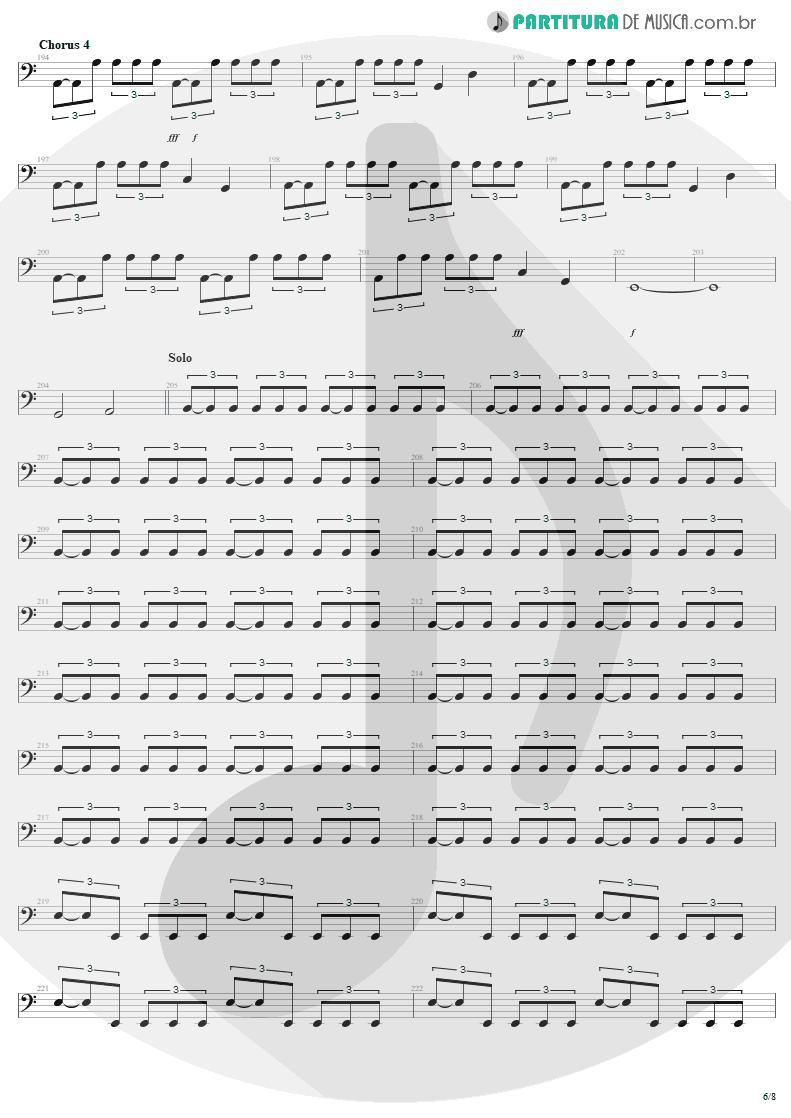 Partitura de musica de Baixo Elétrico - Am I Evil? | Metallica | Kill 'Em All 1983 - pag 6