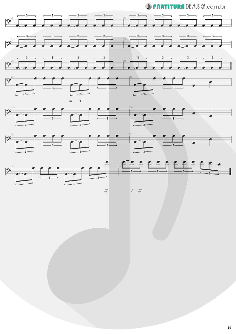 Partitura de musica de Baixo Elétrico - Am I Evil? | Metallica | Kill 'Em All 1983 - pag 8