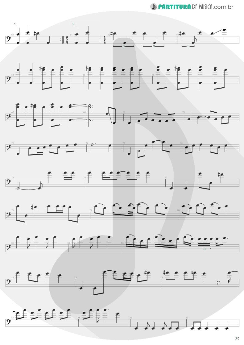 Partitura de musica de Baixo Elétrico - Anesthesia | Metallica | Kill 'Em All 1983 - pag 3