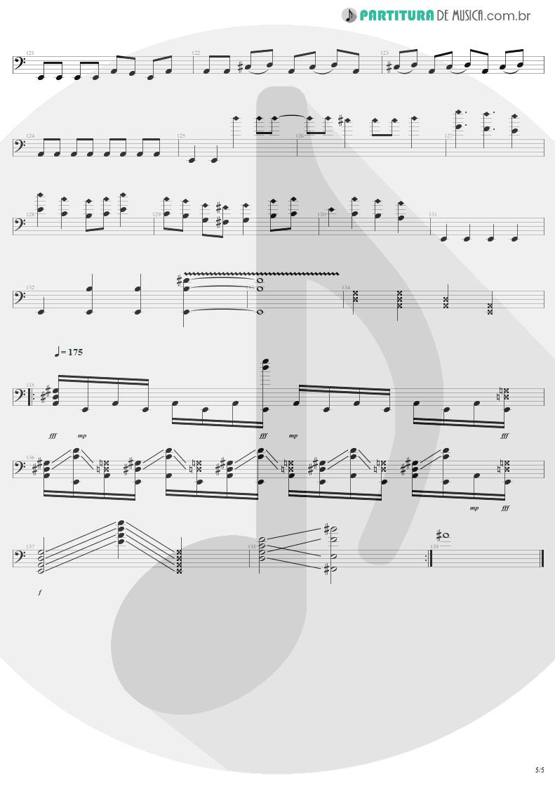 Partitura de musica de Baixo Elétrico - Anesthesia | Metallica | Kill 'Em All 1983 - pag 5