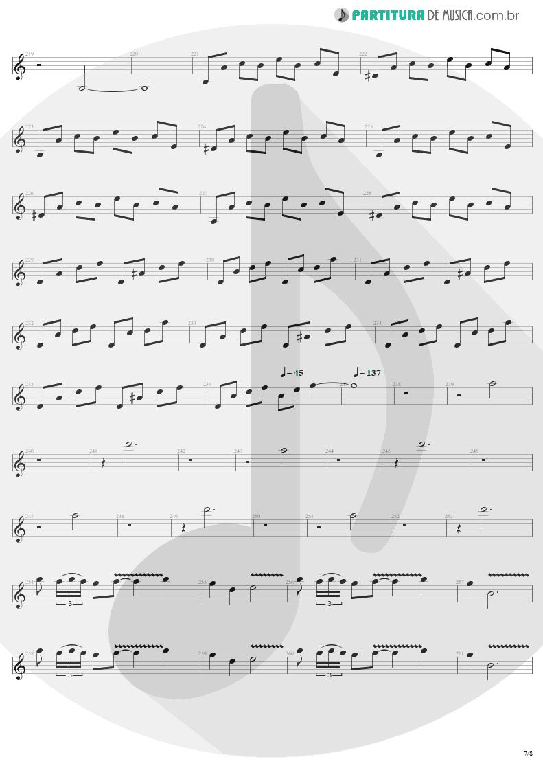 Partitura de musica de Guitarra Elétrica - Call Of Ktulu   Metallica   Ride the Lightning 1984 - pag 7
