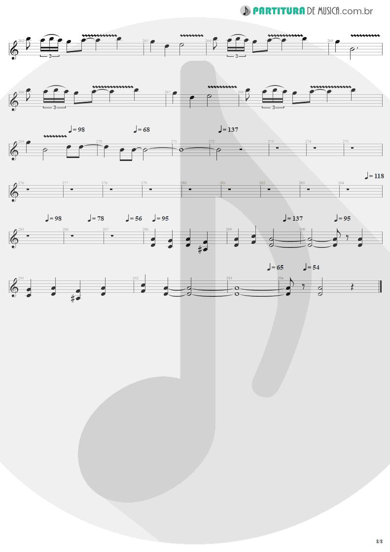 Partitura de musica de Guitarra Elétrica - Call Of Ktulu   Metallica   Ride the Lightning 1984 - pag 8