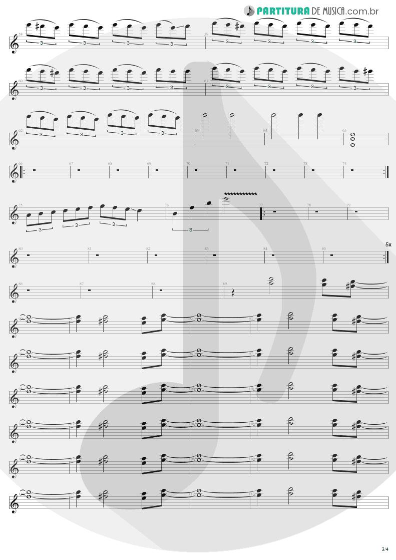 Partitura de musica de Guitarra Elétrica - Creeping Death   Metallica   Ride the Lightning 1984 - pag 3