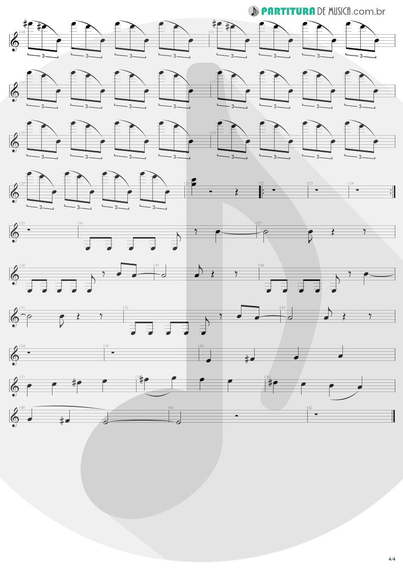 Partitura de musica de Guitarra Elétrica - Creeping Death   Metallica   Ride the Lightning 1984 - pag 4