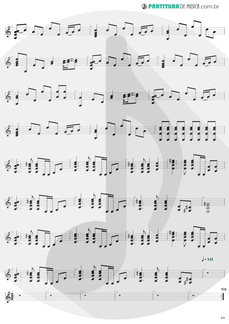 Partitura de musica de Violão - Fade To Black   Metallica   Ride the Lightning 1984 - pag 4