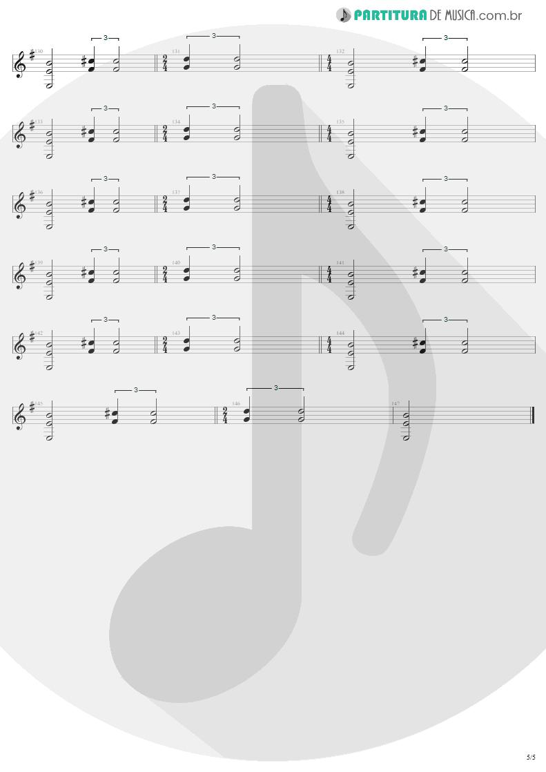 Partitura de musica de Guitarra Elétrica - For Whom The Bell Tolls | Metallica | Ride the Lightning 1984 - pag 5