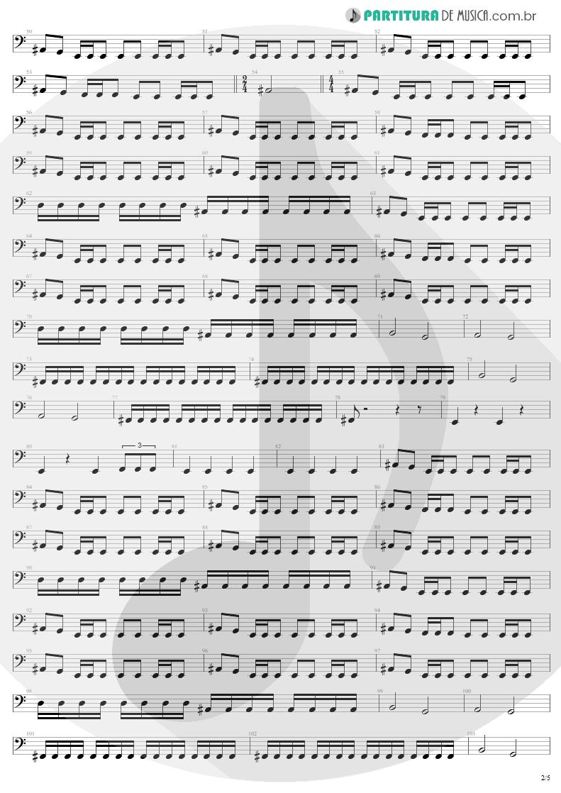 Partitura de musica de Baixo Elétrico - Damage, Inc. | Metallica | Master of Puppets 1986 - pag 2