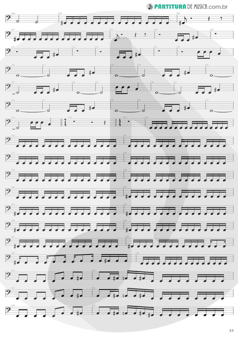 Partitura de musica de Baixo Elétrico - Damage, Inc. | Metallica | Master of Puppets 1986 - pag 3